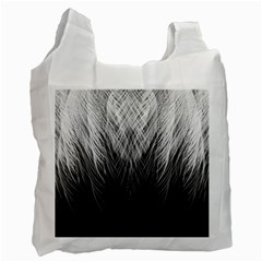 Feather Graphic Design Background Recycle Bag (one Side)