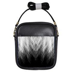 Feather Graphic Design Background Girls Sling Bags