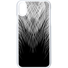 Feather Graphic Design Background Apple Iphone X Seamless Case (white)