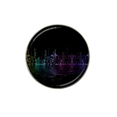 City Night Skyscrapers Hat Clip Ball Marker (10 Pack)