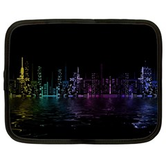 City Night Skyscrapers Netbook Case (large)