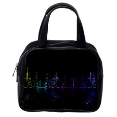 City Night Skyscrapers Classic Handbags (one Side)