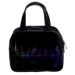 City Night Skyscrapers Classic Handbags (2 Sides)