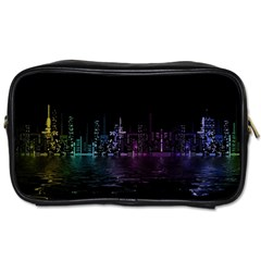 City Night Skyscrapers Toiletries Bags 2 Side