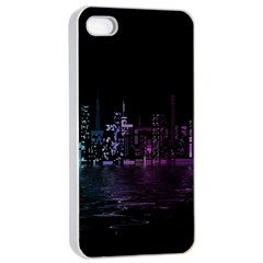 City Night Skyscrapers Apple Iphone 4/4s Seamless Case (white)