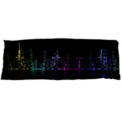 City Night Skyscrapers Body Pillow Case Dakimakura (two Sides)
