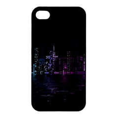 City Night Skyscrapers Apple Iphone 4/4s Premium Hardshell Case