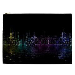 City Night Skyscrapers Cosmetic Bag (xxl)