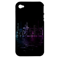 City Night Skyscrapers Apple Iphone 4/4s Hardshell Case (pc+silicone)