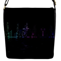 City Night Skyscrapers Flap Messenger Bag (s)