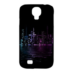 City Night Skyscrapers Samsung Galaxy S4 Classic Hardshell Case (pc+silicone)