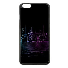 City Night Skyscrapers Apple Iphone 6 Plus/6s Plus Black Enamel Case