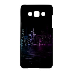City Night Skyscrapers Samsung Galaxy A5 Hardshell Case