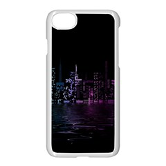 City Night Skyscrapers Apple Iphone 8 Seamless Case (white)