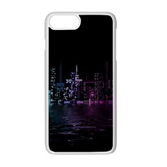 City Night Skyscrapers Apple Iphone 8 Plus Seamless Case (white)