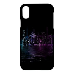 City Night Skyscrapers Apple Iphone X Hardshell Case