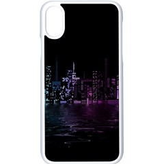 City Night Skyscrapers Apple Iphone X Seamless Case (white)