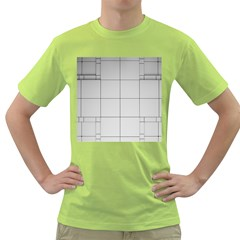 Abstract Architecture Contemporary Green T Shirt