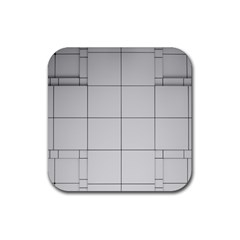 Abstract Architecture Contemporary Rubber Coaster (square)