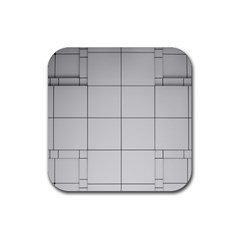 Abstract Architecture Contemporary Rubber Square Coaster (4 Pack)