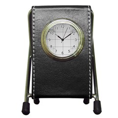 Abstract Architecture Contemporary Pen Holder Desk Clocks