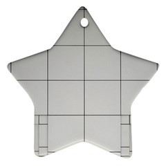 Abstract Architecture Contemporary Star Ornament (two Sides)