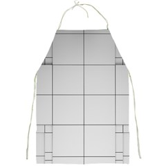 Abstract Architecture Contemporary Full Print Aprons