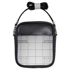 Abstract Architecture Contemporary Girls Sling Bags