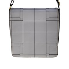 Abstract Architecture Contemporary Flap Messenger Bag (l)