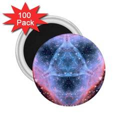 Sacred Geometry Mandelbrot Fractal 2 25  Magnets (100 Pack)