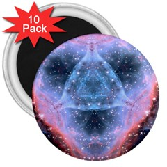 Sacred Geometry Mandelbrot Fractal 3  Magnets (10 Pack)