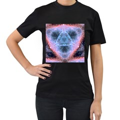 Sacred Geometry Mandelbrot Fractal Women s T Shirt (black)