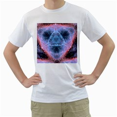 Sacred Geometry Mandelbrot Fractal Men s T Shirt (white)