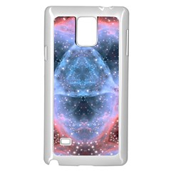 Sacred Geometry Mandelbrot Fractal Samsung Galaxy Note 4 Case (white)