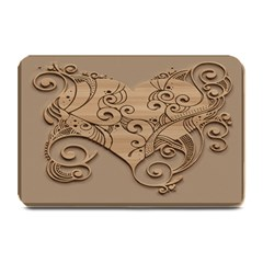 Wood Sculpt Carved Background Plate Mats
