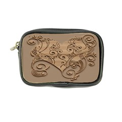 Wood Sculpt Carved Background Coin Purse