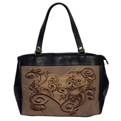 Wood Sculpt Carved Background Office Handbags