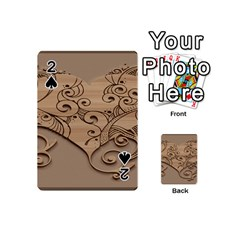 Wood Sculpt Carved Background Playing Cards 54 (mini)