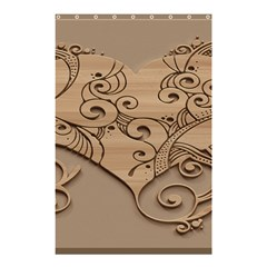 Wood Sculpt Carved Background Shower Curtain 48  X 72  (small)