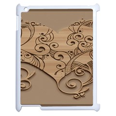 Wood Sculpt Carved Background Apple Ipad 2 Case (white)