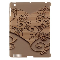 Wood Sculpt Carved Background Apple Ipad 3/4 Hardshell Case (compatible With Smart Cover)