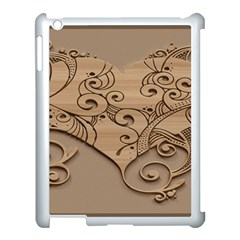 Wood Sculpt Carved Background Apple Ipad 3/4 Case (white)