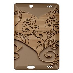 Wood Sculpt Carved Background Amazon Kindle Fire Hd (2013) Hardshell Case