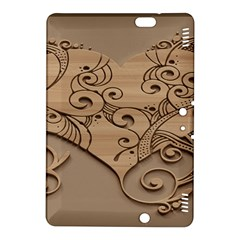 Wood Sculpt Carved Background Kindle Fire Hdx 8 9  Hardshell Case