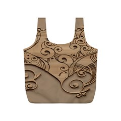 Wood Sculpt Carved Background Full Print Recycle Bags (s)