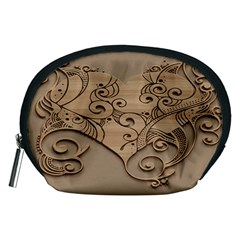 Wood Sculpt Carved Background Accessory Pouches (medium)