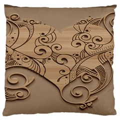 Wood Sculpt Carved Background Standard Flano Cushion Case (one Side)