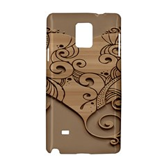 Wood Sculpt Carved Background Samsung Galaxy Note 4 Hardshell Case