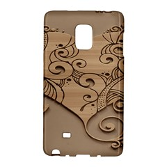 Wood Sculpt Carved Background Galaxy Note Edge