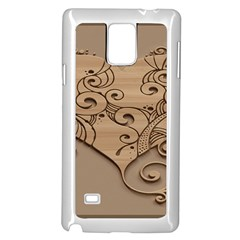 Wood Sculpt Carved Background Samsung Galaxy Note 4 Case (white)